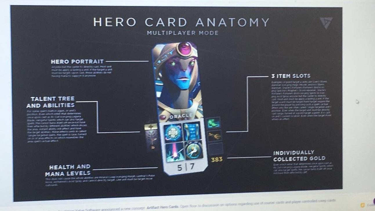 Карточная игра Artifact от Valve