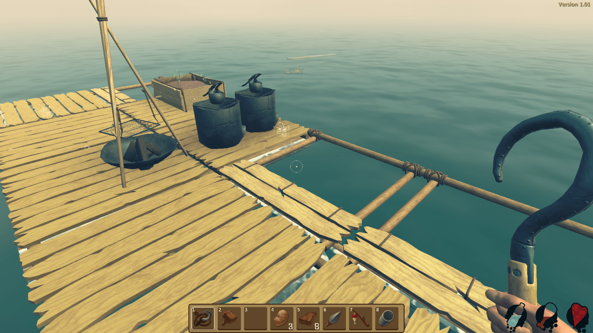 Как добыть сок лианы в Raft